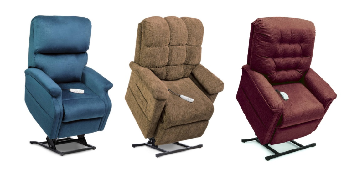 A set of 3 liftchairs (LC-525IPW Infinity,LC-380 Oasis,LC-5251M Infinity)