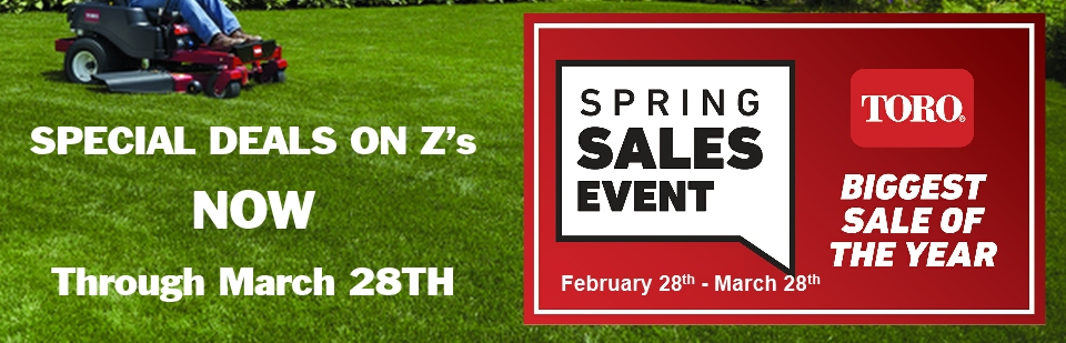 Spring Sales Event is NOW!
