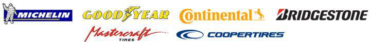 We carry products from Michelin®, Goodyear, Continental, Bridgestone, Mastercraft, and Cooper.