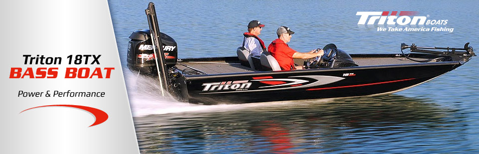 The Triton 18TX bass boat offers power and performance! Click here for details.
