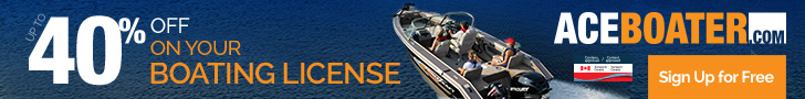 Ace boater: 40% off on your boating license