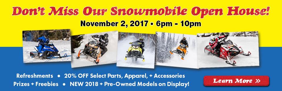 Snowmobile Open House Event Interlakes Sport Center LLC