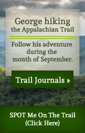 George hiking the Appalachian Trail. Follow his adventure during the month of September.