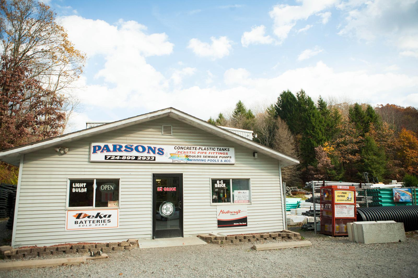 Online Hardware Store Parsons, Inc  Hookstown, PA (724) 899-2933