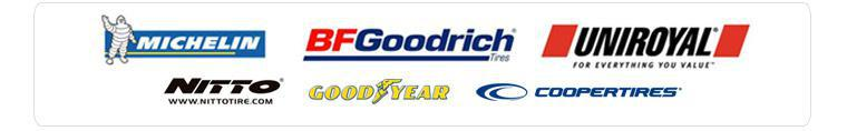 We proudly carry products from Michelin®, BFGoodrich®, Uniroyal®, Nitto, Goodyear and Cooper.
