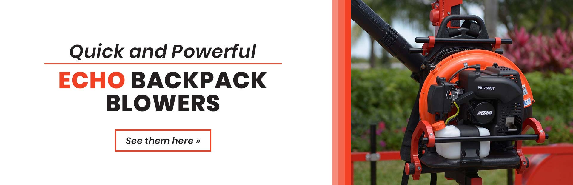 Click here to view our great selection of ECHO backpack blowers!