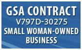 GSA Contract V797D-30275. Small Woman Owned Business.
