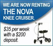 We are now renting the Nova Knee Cruiser.