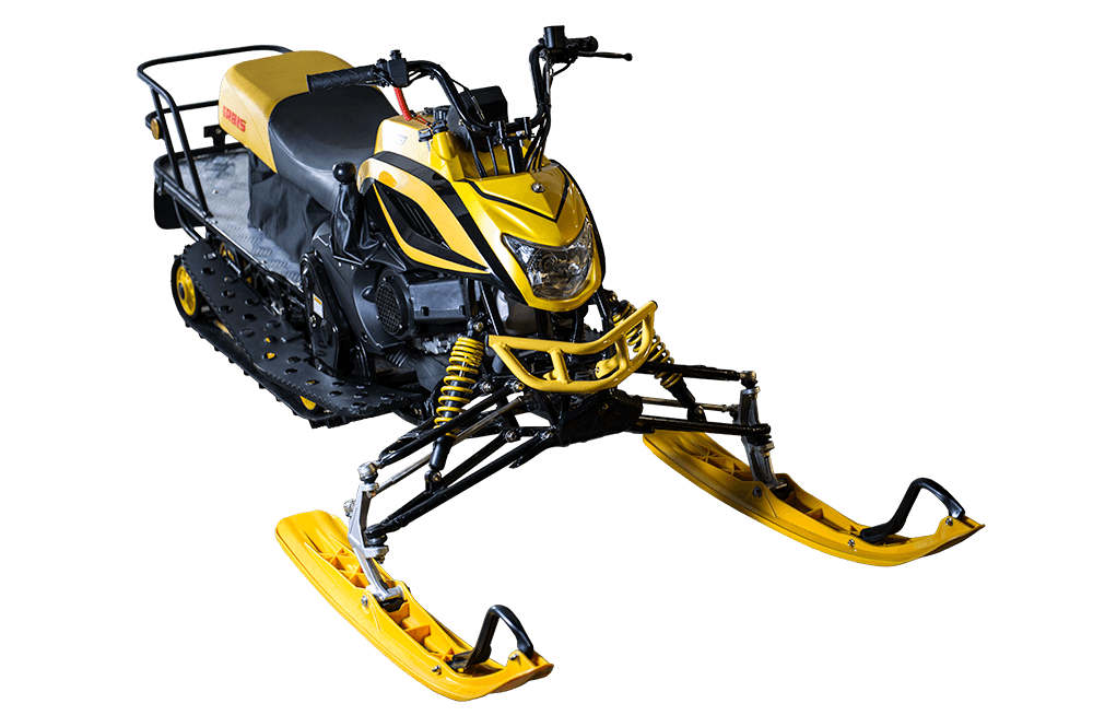 Irbis snowmobile yellow front view for sale MN