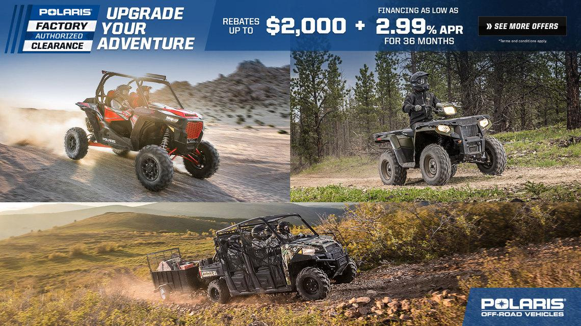 Polaris Factory Authorized Clearance in Minnesota