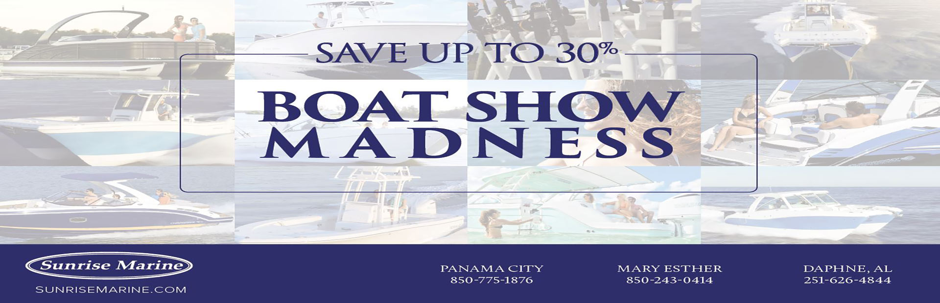 Save up to 30% Boat Show Madness
