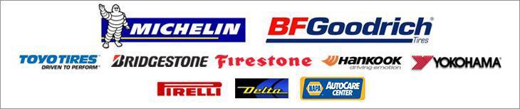We carry products from Michelin®, BFGoodrich®, Toyo, Bridgestone, Firestone, Hankook, Delta, Yokohama, Pirelli and Napa.
