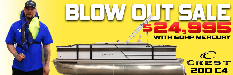 PONTOON BLOW OUT SALE