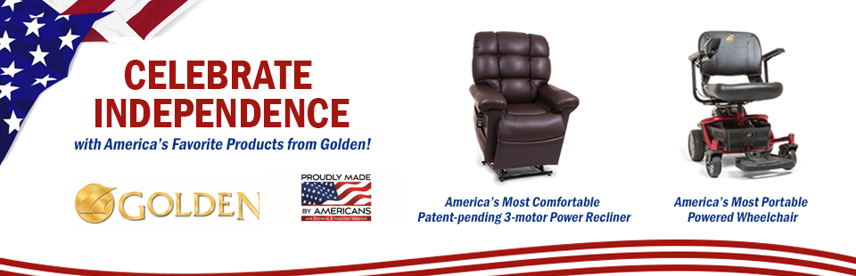 Celebrate independence with America's favorite products from Golden Technologies!