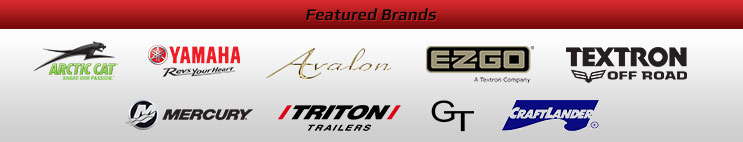We carry products from Arctic Cat, Yamaha, Avalon, EZ-GO, Textron Off Road, Mercury, Triton Trailers, Genesis Trailers, and Craftlander Docks and Hoists.