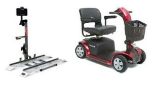 Comfort Mobility Scooter and Vehicle Lift Package