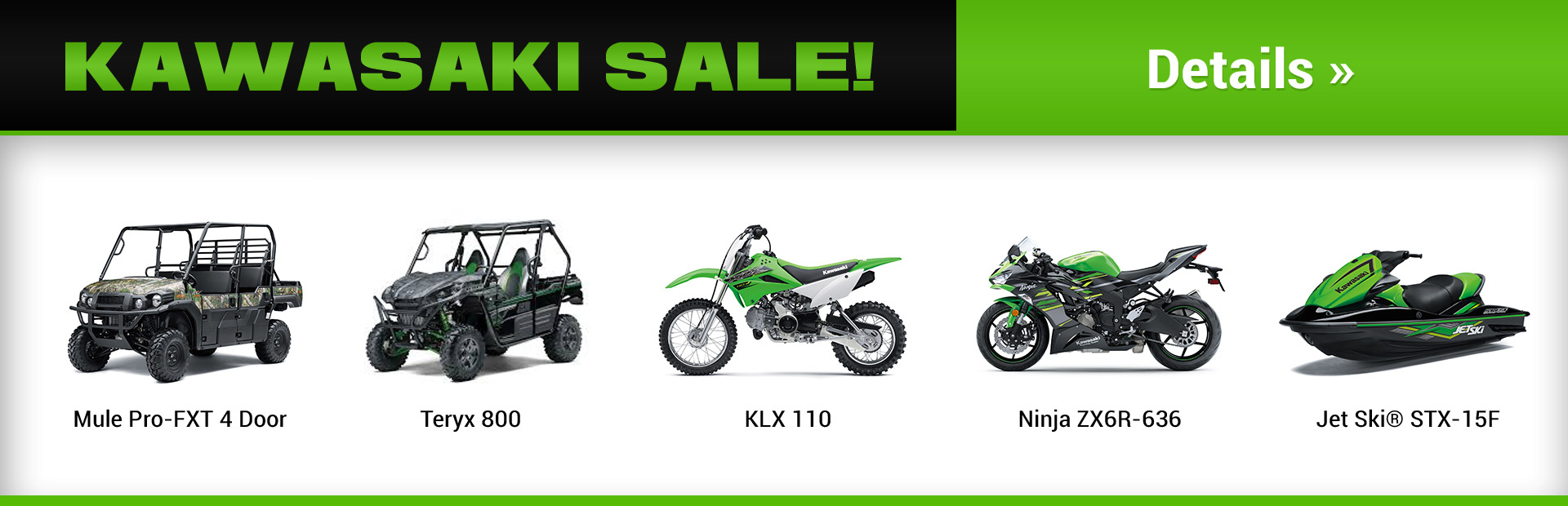 Kawasaki Sale: Click here for details.