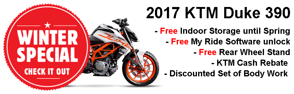 2017 KTM Duke 390 Winter Special