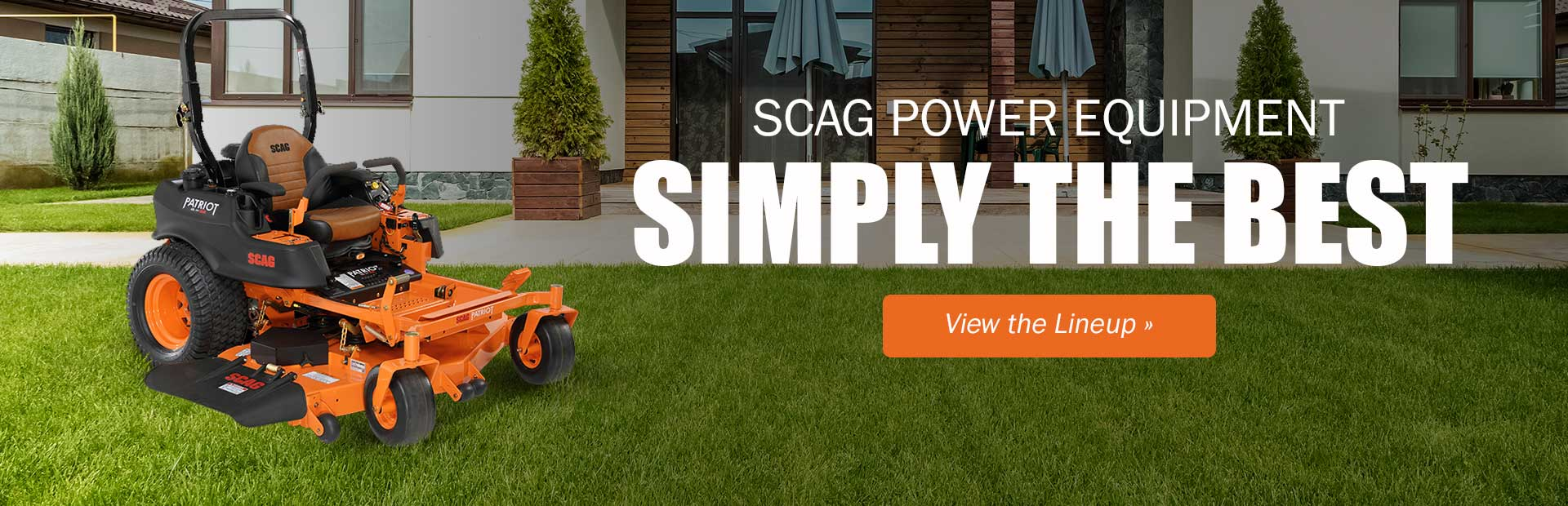 Scag Power Equipment: Click here to view the lineup.