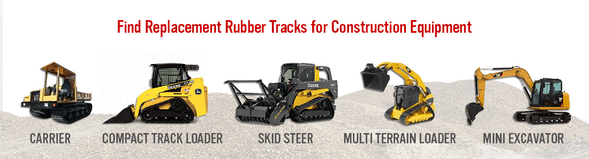 Replacement Tracks for Construction Equipment