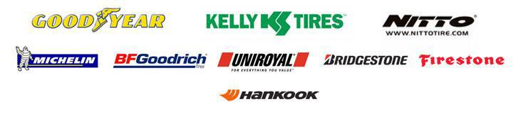 We carry products from Goodyear, Kelly, Nitto, Michelin®, BFGoodrich®, Uniroyal®, Bridgestone, Firestone, and Hankook.