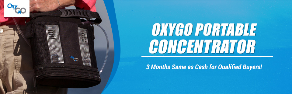 OxyGo Portable Concentrator: 6 months same as cash for qualified buyers!