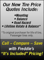 Call – Compare – Save With Freddies Its Included Pricing!