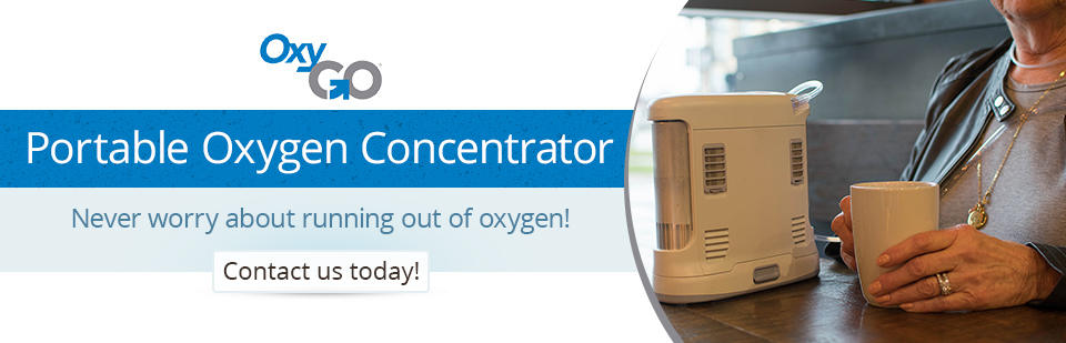 OxyGo Portable Oxygen Concentrator: Never worry about running out of oxygen!