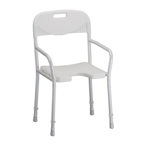 SHOWER CHAIR W/ BACK & ARMS