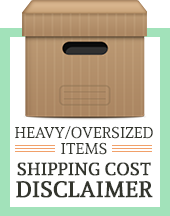 Heavy/Oversized Items Shipping Cost Disclaimer