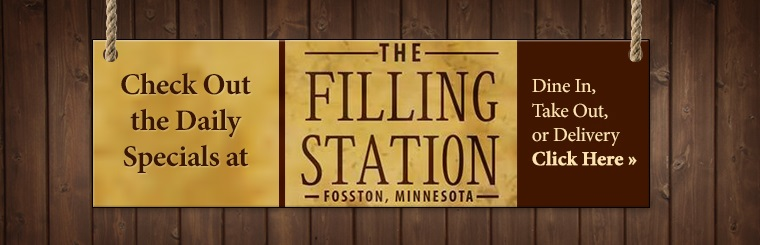 Daily Specials at the Filling Station: Click here for details.