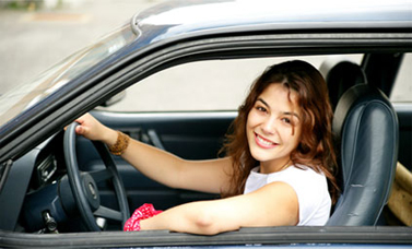 A young woman has a peace of mind with her car warranty