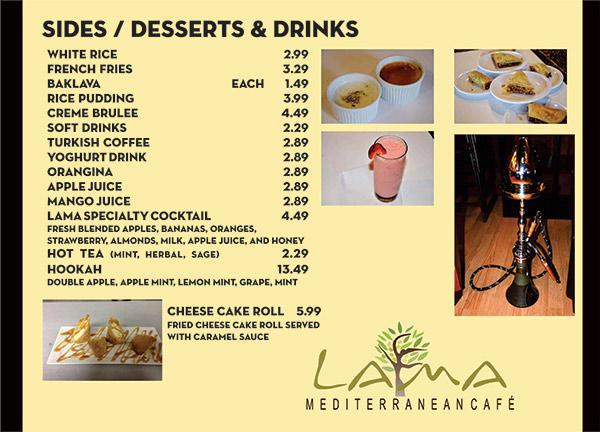 Sides/Desserts & Drinks