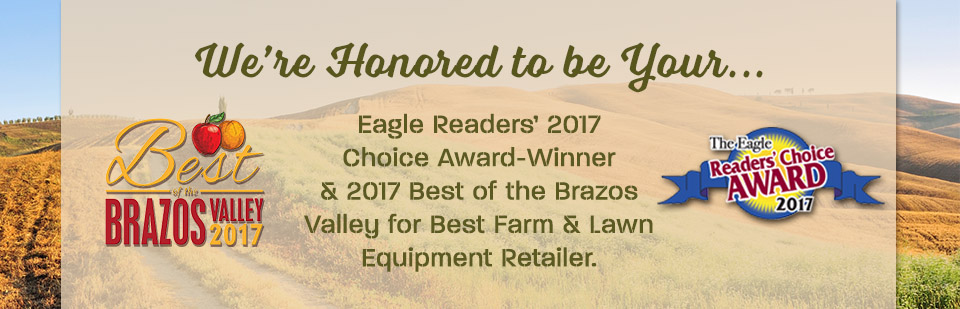 Thank you! Best Tractor Dealer & ATV Dealer in Central Texas - serving Bryan, College Station & More