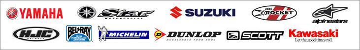 We proudly carry products from Yamaha, Star, Suzuki, Joe Rocket, alpinestars, HJC, Bel-Ray, Michelin®, Dunlop, Scott, and Kawasaki.