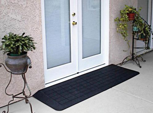 Small ramp up to door