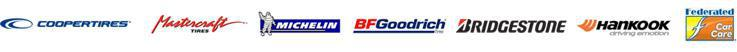 We carry products from Cooper, Mastercraft, Michelin®, BFGoodrich®, Bridgestone, Hankook, and Federated.