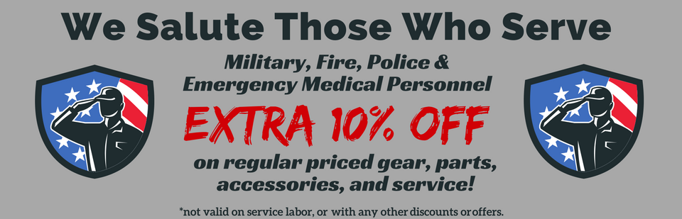 Military and Service Personnel Discount - 10% Off