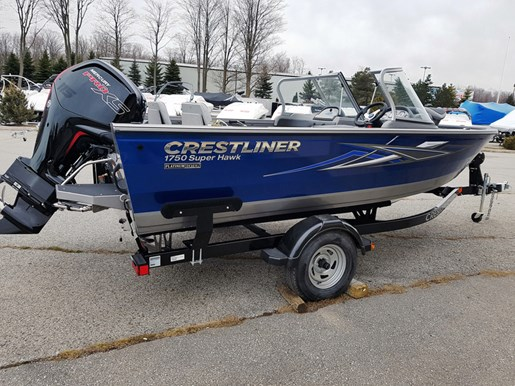 For Sale: 2018 Crestliner 1750 Super Hawk Walk-through 17ft<br/>Trudeau's Sea Ray - Spokane