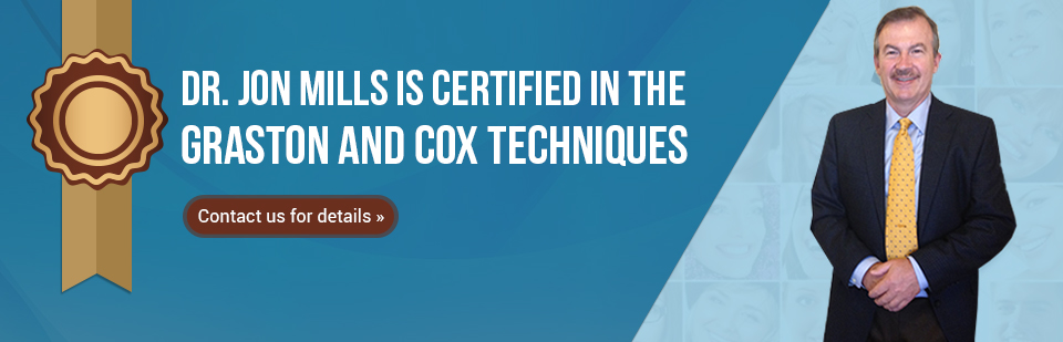 Dr. Jon Mills is certified in the Graston and Cox techniques! Click here to contact us.