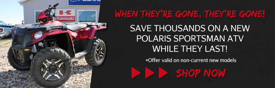 Save  on Polaris Sportsman ATVs & UTVs  in Platte, SD!