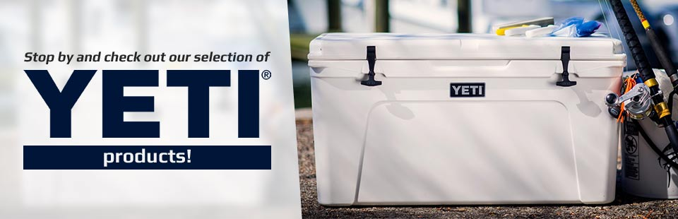 Stop by and check out our selection of YETI products!