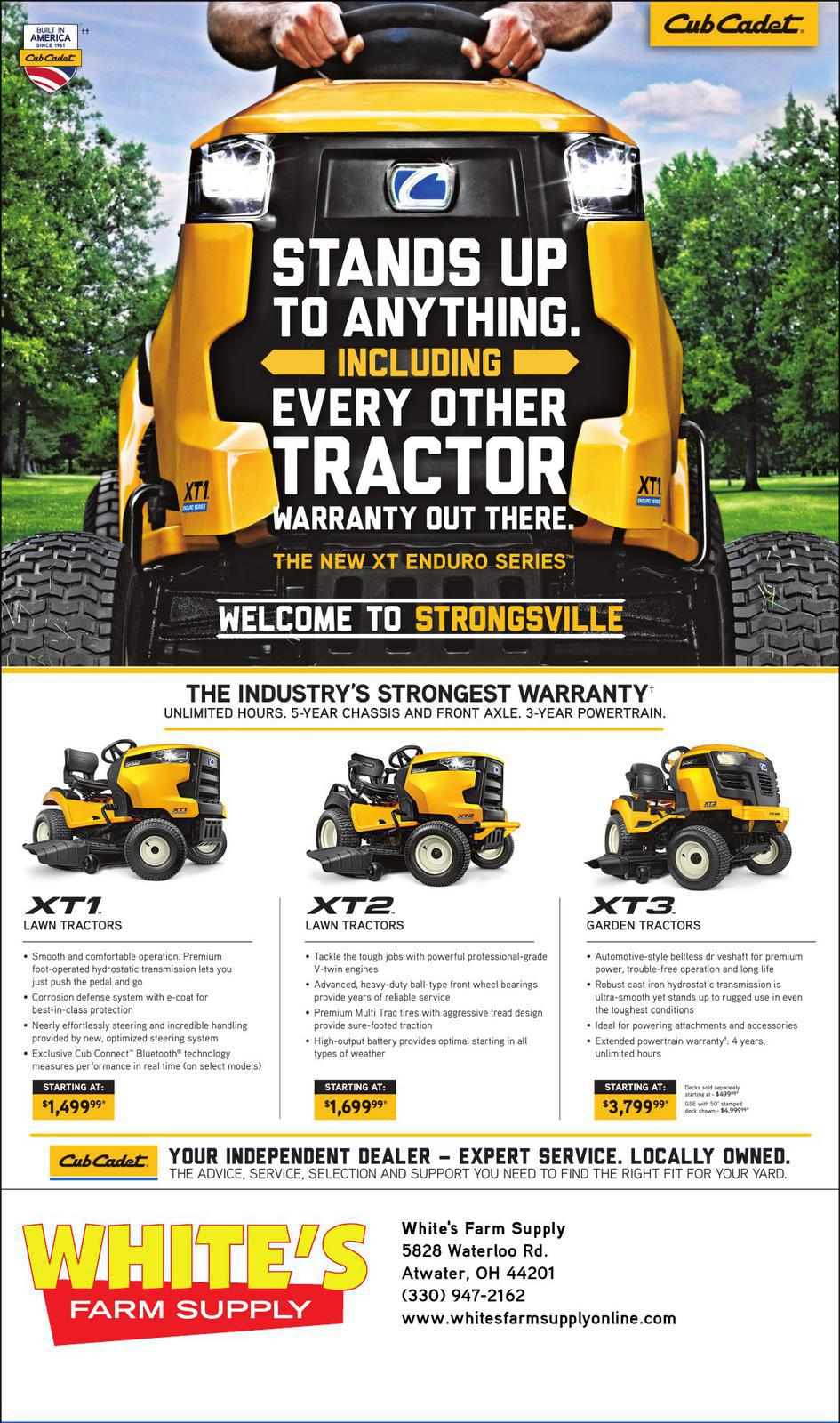 QR Flyer White's Farm Equipment Atwater, OH (330) 947-2162