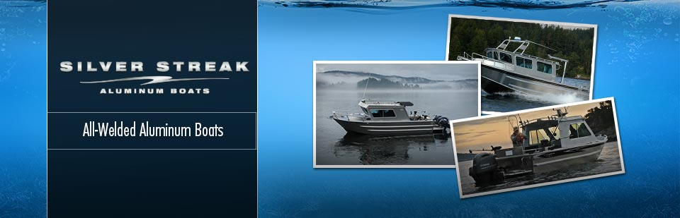 We carry Silver Streak all-welded aluminum boats.