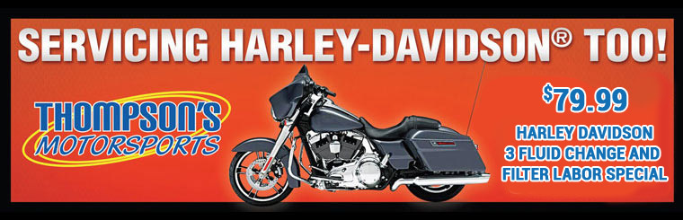Servicing Harley-Davidson Too! $79.99 Harley Davidson 3 Fluid Change and Filter Labor Special