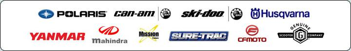We carry quality products from Polaris, Can-Am, Ski-Doo, Husqvarna, Yanmar, Mahindra, Mission, Sure-Trac, CF Moto, and Genuine.