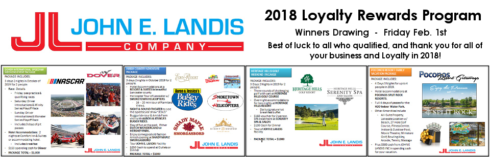 2018 Loyalty Rewards Program