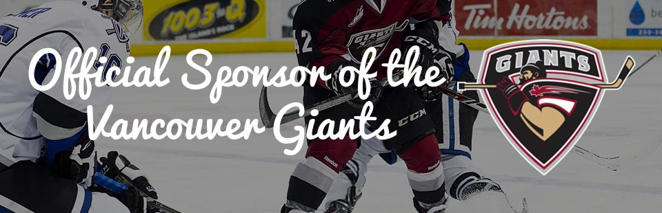 Official Sponsor of the Vancouver Giants