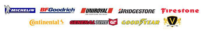 We proudly carry products from Michelin®, BFGoodrich®, Uniroyal®, Bridgestone, Firestone, Continental, General, Goodyear, and Vogue.