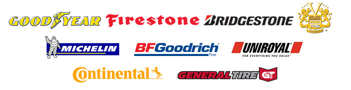 We proudly carry products from Goodyear, Firestone, Bridgestone, Vogue, Michelin®, BFGoodrich®, Uniroyal®, Continental, and General.